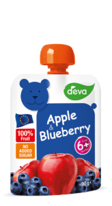 apple and blueberry baby food pouches