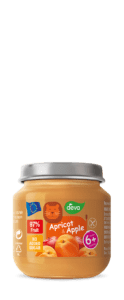 apricot and apple baby food jar 125 g