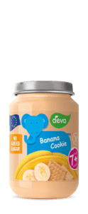 banana biscuit infant food in jar