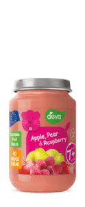 baby food with real pieces of fruit