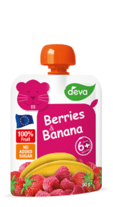 deva berries and banana baby food pouch