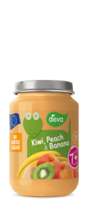 kiwi, peach, banana baby food jar 200 g