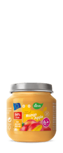 mango and apple baby food jar