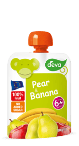 pear and banana baby food pouch