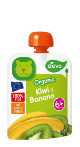bio kiwi and banana baby food pouch