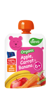 bio organic apple, carrot, banana baby food pouch
