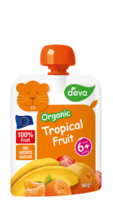 organic tropical fruit baby food pouch