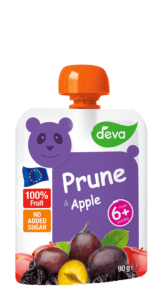 prune and apple baby food pouch deva